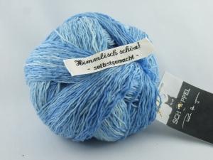 wunderschöne handgefärbte Verlaufswolle Schoppel XL Kleckse Farbe Das Blaue vom Himmel