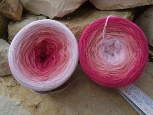 4-fädig gefachtes Farbverlaufsgarn (Bobbel) Wolke 7 rosarote Brille 800m Lauflänge - Handarbeit kaufen