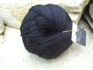 einfarbige 6-fach Wolle Schoppel Admiral Stärke 6 Farbe Schwarz