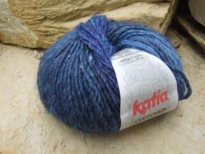 schöne Tweedwolle von Katia Oxford Farbe 210 in blau - Handarbeit kaufen
