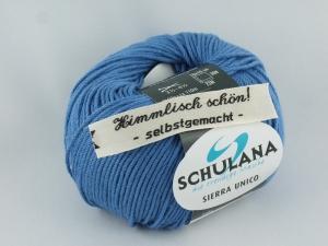 sommerliches Baumwollgarn Sierra Unico mit Seide von Schulana in Farbe 45 blau