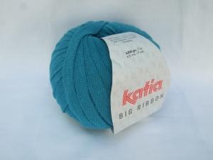 flaches einfarbiges Bändchengarn von Katia Big Ribbon Farbe 22 in türkis