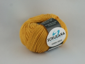 sommerliches Baumwollgarn Sierra Unico mit Seide von Schulana in Farbe 42 gelb