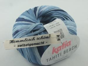 sommerliches Bändchengarn Tahiti Beach von Katia in Farbe 301: jeansblau