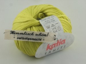 sommerliches Bändchengarn Tahiti von Katia in Farbe 35: gelb