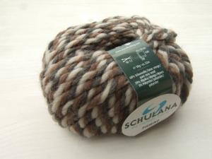 schöne, dicke Wolle mit Alpakaanteil von Schulana Piumino Farbe 018 in braun-beige meliert - Handarbeit kaufen