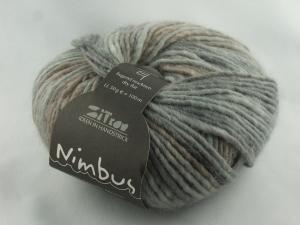schöne Verlaufswolle von Atelier Zitron Nimbus in grau meliert (Farbe 01) - Handarbeit kaufen