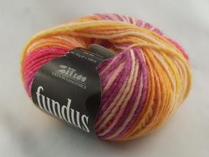 schöne Verlaufswolle von Atelier Zitron Fundus in gelb-pink (Farbe 100) - Handarbeit kaufen