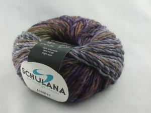 schöne melierte Schurwolle von Schulana: Country Farbe Nr. 30, lila, oliv meliert - Handarbeit kaufen
