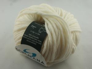 dicke einfarbige Schurwolle Merino extrafein von Schulana: Merlana Farbe Nr. 09, wollweiß  - Handarbeit kaufen