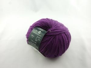 dünne einfarbige Schurwolle Merino extrafein von Schulana: Filini Merino Farbe Nr. 032, lila - Handarbeit kaufen