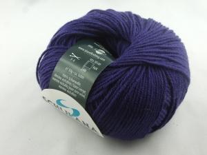 dünne einfarbige Schurwolle Merino extrafein von Schulana: Filini Merino Farbe Nr. 023, aubergine - Handarbeit kaufen