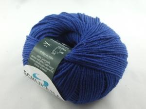 dünne einfarbige Schurwolle Merino extrafein von Schulana: Filini Merino Farbe Nr. 005, royalblau - Handarbeit kaufen