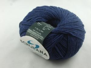 dünne einfarbige Schurwolle Merino extrafein von Schulana: Filini Merino Farbe Nr. 007, dunkelblau - Handarbeit kaufen