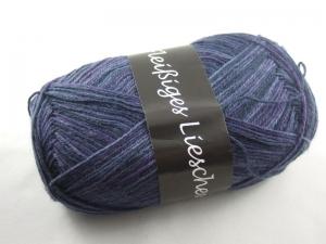 schöne 4-fach Sockenwolle Fleißiges Lieschen in dunkelblau und lila, Farbe Nr. 02