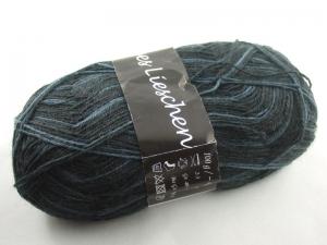 schöne 4-fach Sockenwolle Fleißiges Lieschen in schwarz und blau, Farbe Nr. 04