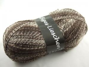 schöne 4-fach Sockenwolle Fleißiges Lieschen in braun meliert, Farbe Nr. 176