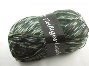 schöne 4-fach Sockenwolle Fleißiges Lieschen in grün, Farbe Nr. 59