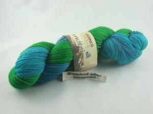 Handgefärbte Sockenwolle Sommernachtsreigen von Ferner Wolle, Oberons Krone - Handarbeit kaufen