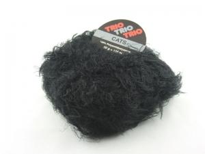 flauschige Fransenwolle Trio Cats in schwarz zum Stricken oder Basteln - Handarbeit kaufen