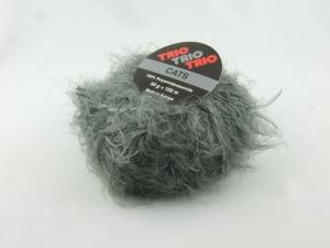 flauschige Fransenwolle Trio Cats in grau zum Stricken oder Basteln - Handarbeit kaufen