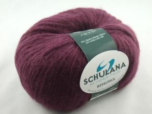 schöne, flauschige Wolle Royalpaca von Schulana Farbe 015 in brombeere - Handarbeit kaufen