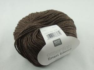Essentials linen blend aran von Rico Design, ein sommerliches Baumwollgarn in Aranstärke mit Leinen- und Viskoseanteil in Farbe 004: nougat - Handarbeit kaufen