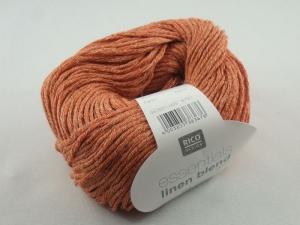 Essentials linen blend aran von Rico Design, ein sommerliches Baumwollgarn in Aranstärke mit Leinen- und Viskoseanteil in Farbe 005: terra