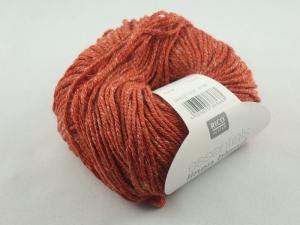 Essentials linen blend aran von Rico Design, ein sommerliches Baumwollgarn in Aranstärke mit Leinen- und Viskoseanteil in Farbe 006: kürbis - Handarbeit kaufen