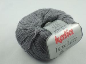 Inox Lace von Katia - ein ganz besonderes Lacegarn mit Edelstahl in Farbe 202: silbergrau - Handarbeit kaufen
