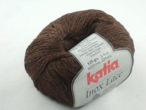 Inox Lace von Katia - ein ganz besonderes Lacegarn mit Edelstahl in Farbe 209: braun - Handarbeit kaufen