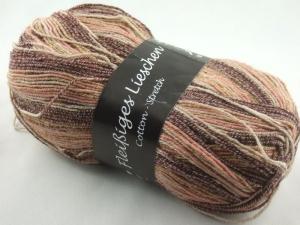 schöne 4-fach Sockenwolle Cotton Stretch Fleißiges Lieschen in braun, Farbe Nr. 22 - Handarbeit kaufen