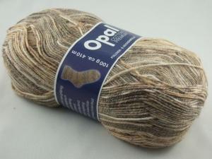 schöne 4-fach Sockenwolle Cotton Premium von Opal in braun und beige, Farbe Nr. 5617 - Handarbeit kaufen