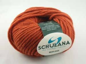 dicke einfarbige Schurwolle Merino extrafein von Schulana: Merlana Farbe Nr. 11, orange - Handarbeit kaufen
