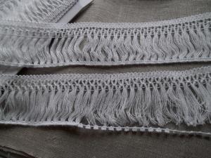 3 Meter  Fransenborte Fransen ♥ Baumwolle  55mm  Weiß