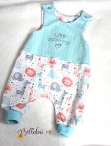 Babystrampler Gr. 62/68 mit Aufdruck Wir haben dich lieb