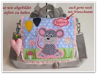 Kindergartenrucksack Maus ... mit Name ----> SOFORT ZU HABEN - Handarbeit kaufen