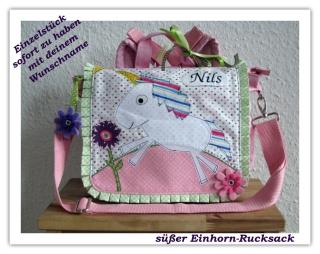 Kindergartenrucksack Einhorn  ... mit deinem Wunschname ...  SOFORT ZU HABEN   - Handarbeit kaufen