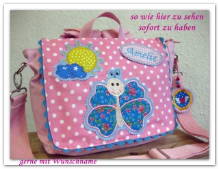 Kindergartenrucksack Schmetterling  ... mit deinem Wunschname ...  SOFORT ZU HABEN - Handarbeit kaufen