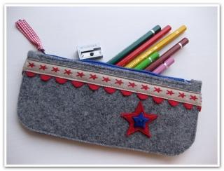 ★ Stiftemäppchen aus Wollfilz - Schlamperl ★ SOFORT ZU HABEN - Handarbeit kaufen