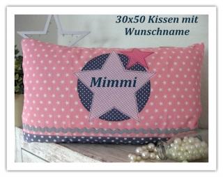 ★ Kissen Stern mit Name 50 x 30 ★ Kissen personalisierbar - Handarbeit kaufen