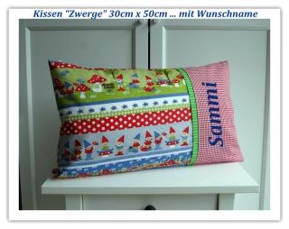 ★ Kissen Zwerge mit Name 50 x 30 ★ Kissen personalisierbar   - Handarbeit kaufen
