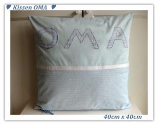 Kissen    ★ OMA ★    40x40cm   - sofort zu haben  --  für Oma   - Handarbeit kaufen