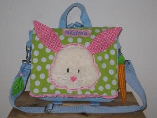Kindergartenrucksack Hase ... mit deinem Wunschname   - Handarbeit kaufen