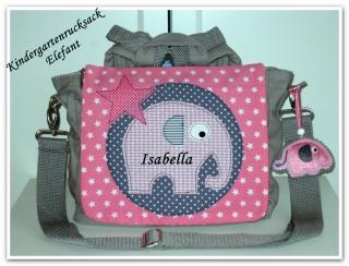 Kindergartenrucksack Elefant  ... mit deinem Wunschname