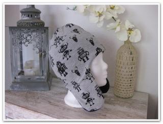 ★ Mütze gefüttert 48-51 cm  Kopfumfang ★ mit Ohrenschutz ...warm und sehr weich  - SOFORT ZU HABEN