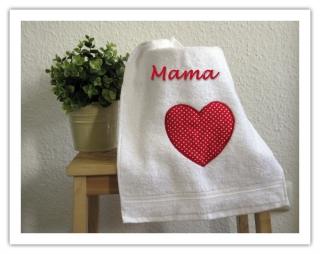 ★ Handtuch   mit Motiv und Name ★ Gästehandtuch ★ personalisierbar ★ Handtuch bestickt - Handarbeit kaufen