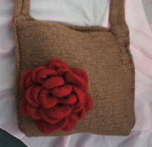 Tasche mit Blume