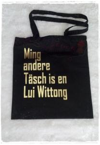 Baumwollbeutel ☆ Ming andere Täsch ☆ schwarz/gold