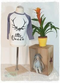 Langarmshirt ♥Little Queen♥ Gr.92/98 - Handarbeit kaufen